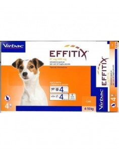 EFFITIX CANI 4-10 Kg 4 Pipette