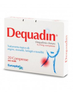 DEQUADIN 0,25 mg 20 compresse